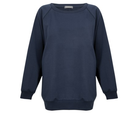 Chalk Nancy Plain Oversized Comfy Sweatshirt - Blue