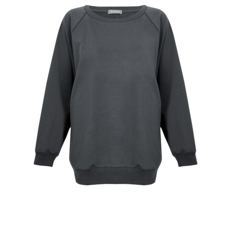 Chalk Nancy Plain Oversized Comfy Sweatshirt - Black
