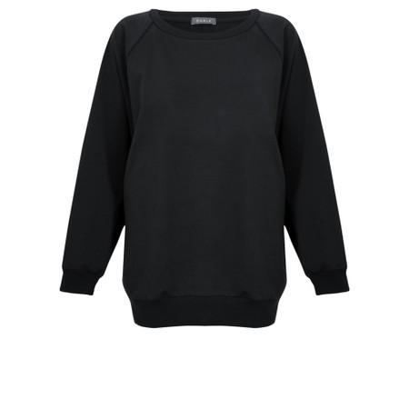 Chalk Nancy Plain Oversized Comfy Sweatshirt - Black