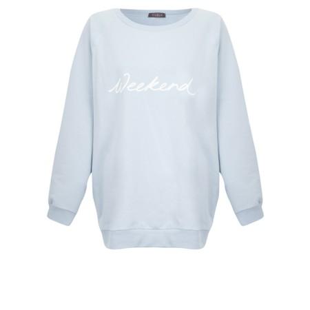 Chalk Nancy Weekend Oversized Comfy Sweatshirt - Blue