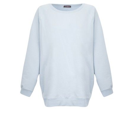 Chalk Nancy Plain Oversized Comfy Sweatshirt - Blue