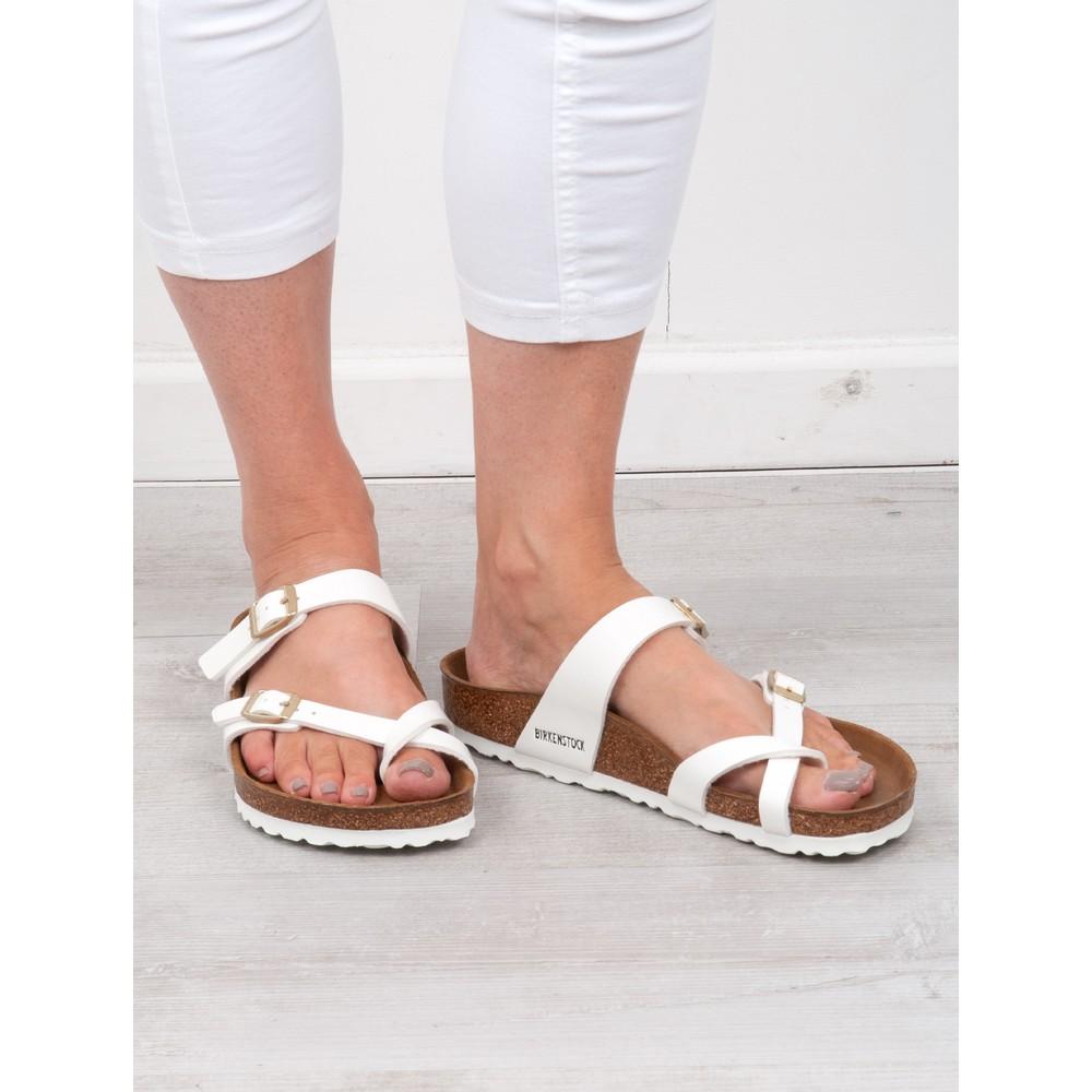 Birkenstock Mayari Birko-Flor Sandals White Patent