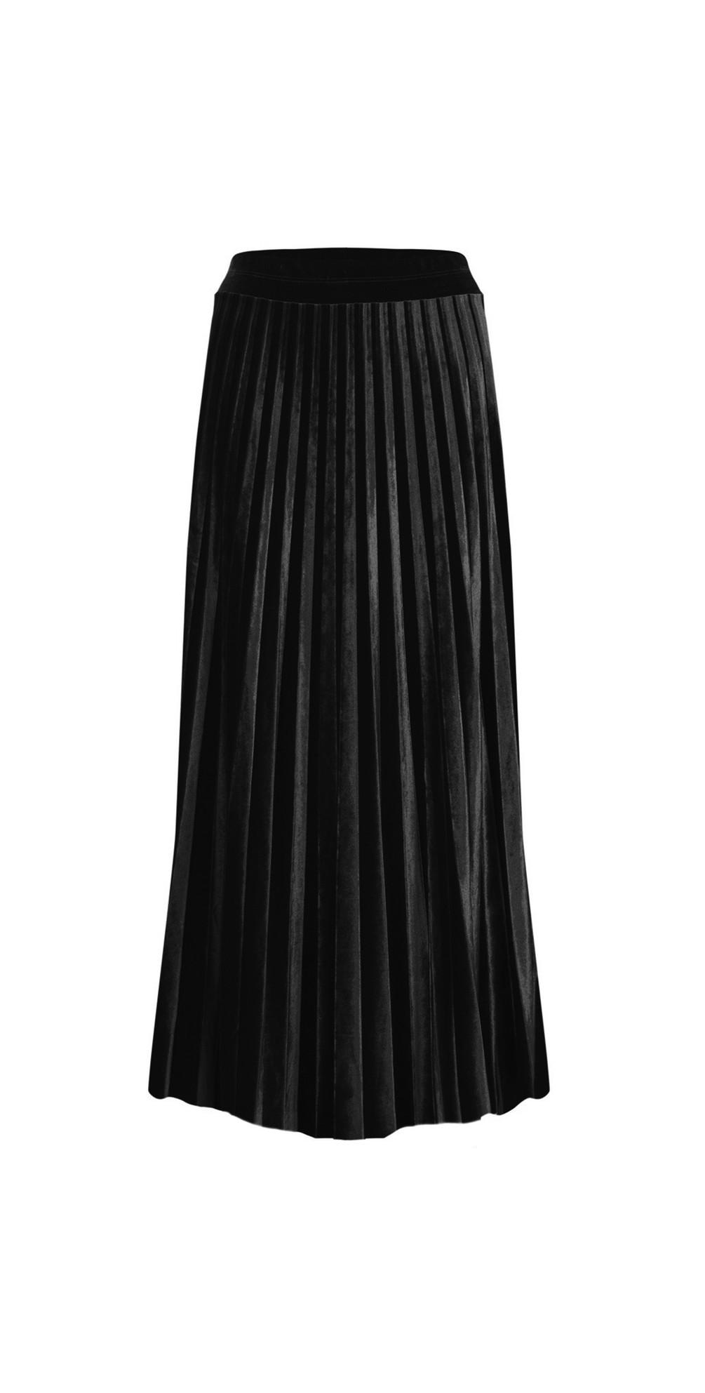 Velvet Pleated Skirt main image