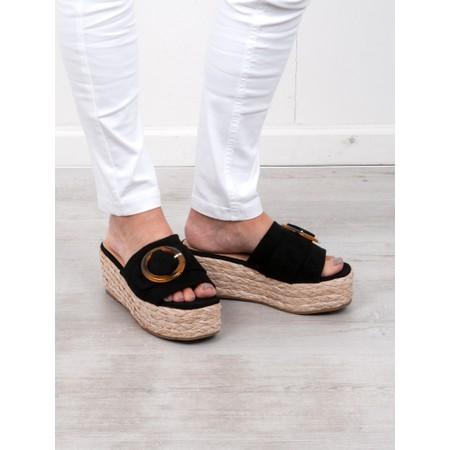 Livshu Amalfi Wedge Sandal  - Black