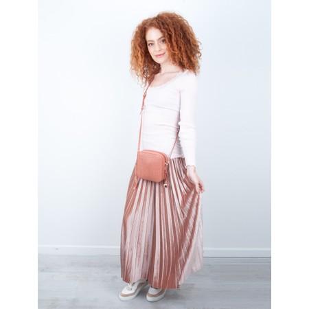 Pour Moi Velvet Pleated Skirt - Pink