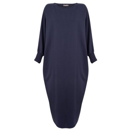 Chalk Rose Plain Lounge Dress - Blue