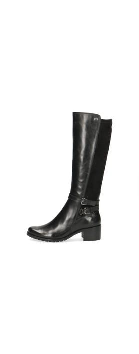 Caprice Footwear Fiona Premium Collection Generous Calf Fitting Long Boot Black Combi