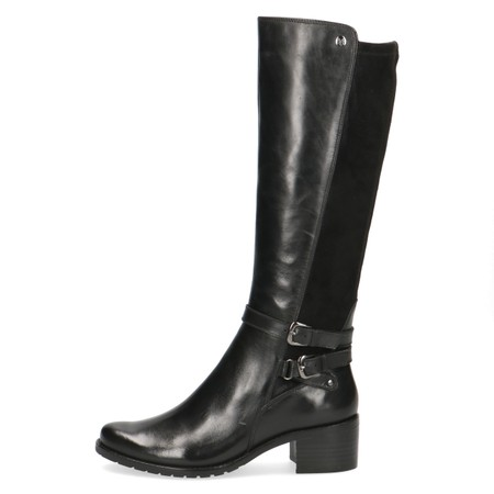 Caprice Footwear Fiona Premium Collection Generous Calf Fitting Long Boot - Black
