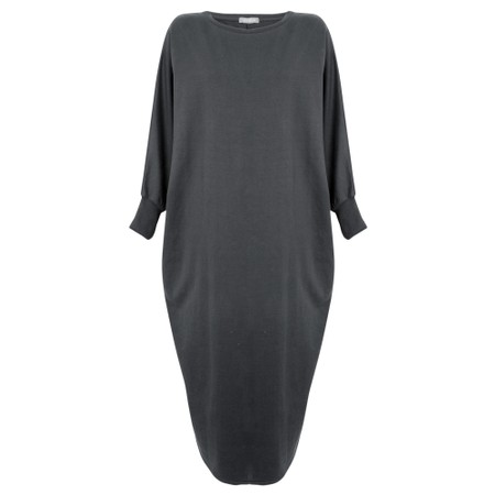 Chalk Rose Plain Lounge Dress - Black
