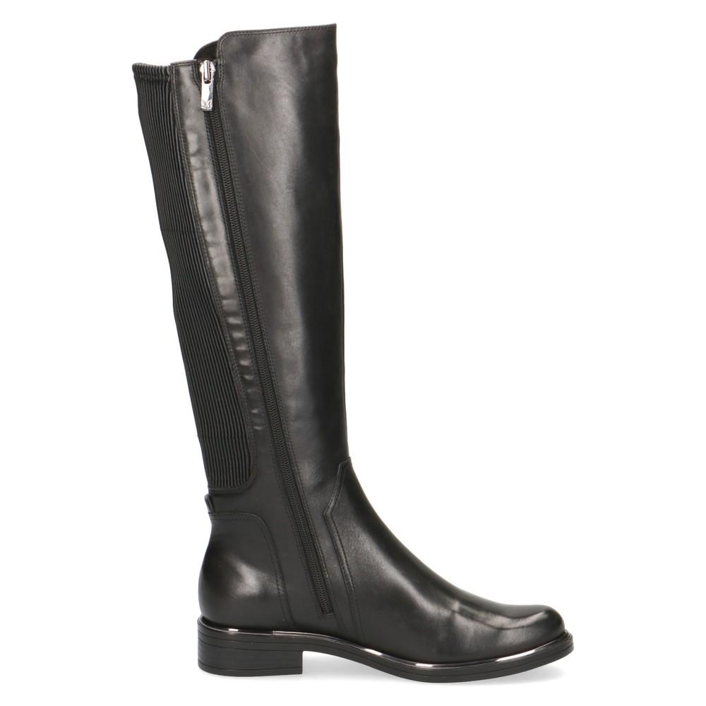 Caprice Footwear Joleen Generous Calf Fitting Leather Boot Black