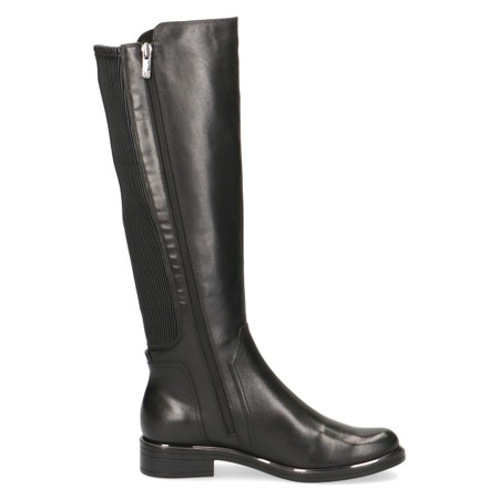 Caprice Footwear Joleen Generous Calf Fitting Leather Boot - Black