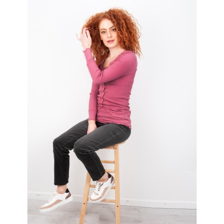 Robell Rose Green NeedleCord Slimfit Trousers - Green