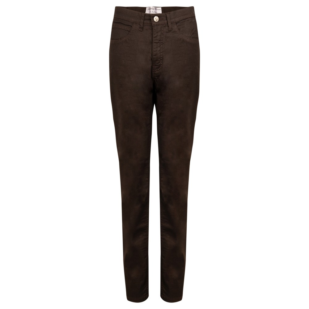 Amazing Woman 02 Coated 5 Pocket Jean Brown