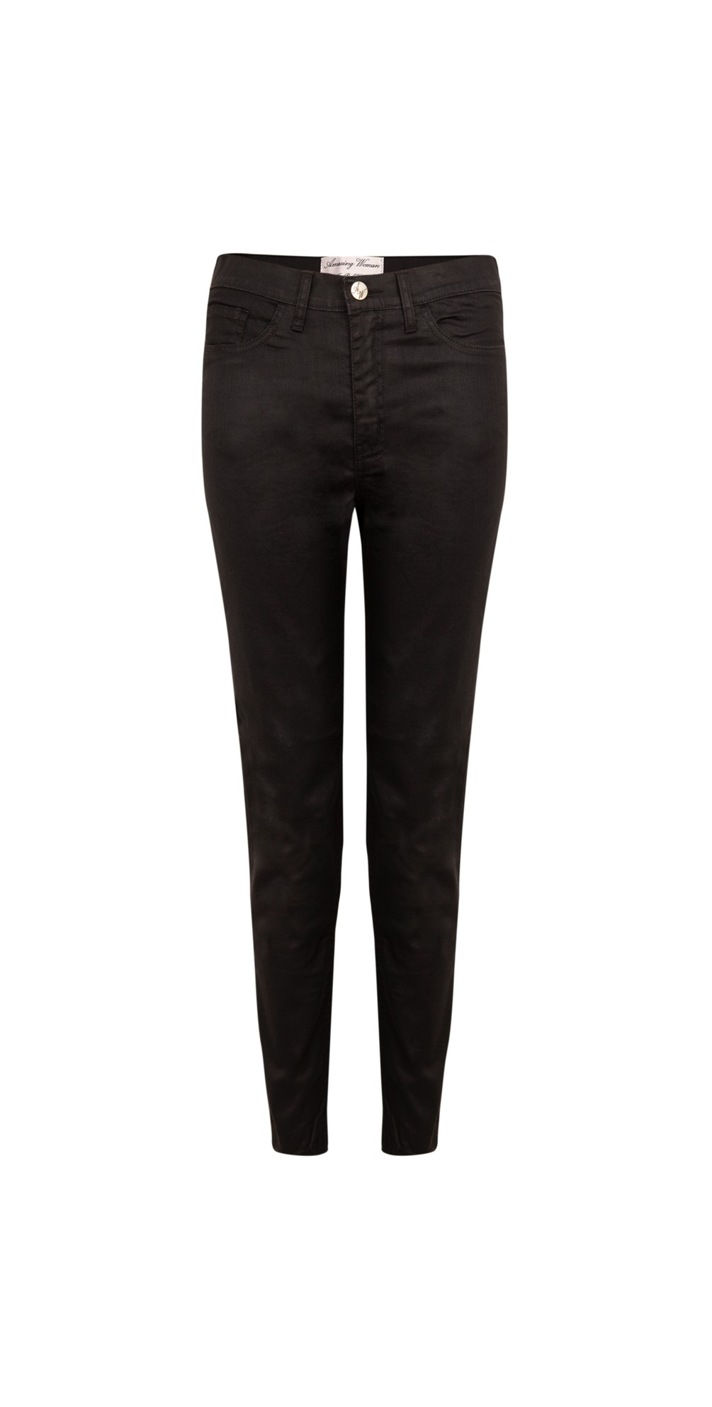 12 Coated Mid Rise Ankle Jean main image