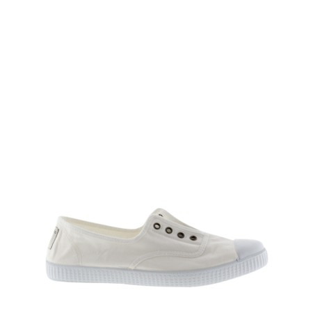 Victoria Shoes Dora Organic Cotton No Lace Pump - White