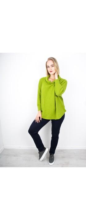 Amazing Woman Vera Oversized Knit Jumper Pear