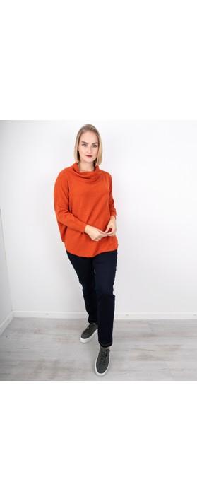 Amazing Woman Vera Oversized Knit Jumper Pumpkin