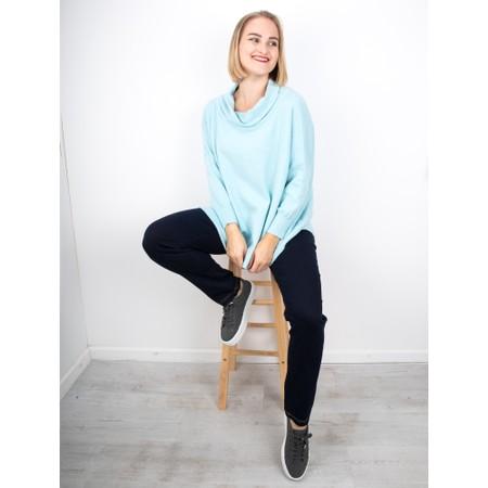 Amazing Woman  Vera Oversized Knit Jumper - Blue