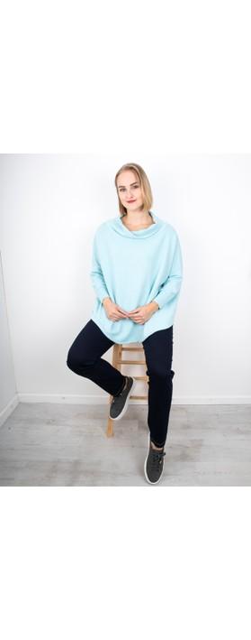 Amazing Woman Vera Oversized Knit Jumper Powder Blue