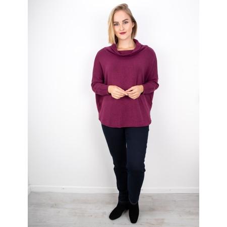 Amazing Woman Vera Oversized Knit Jumper - Purple