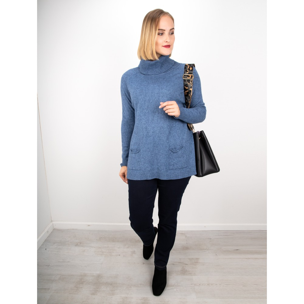 Amazing Woman Anna Two Pocket Relaxed Fit Jumper Denim