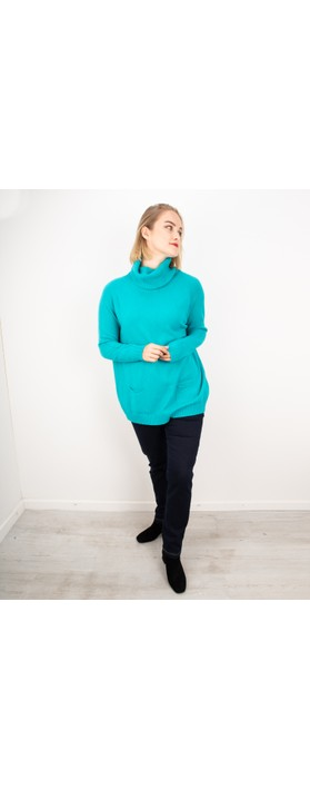 Amazing Woman Anna Two Pocket Relaxed Fit Jumper Teal