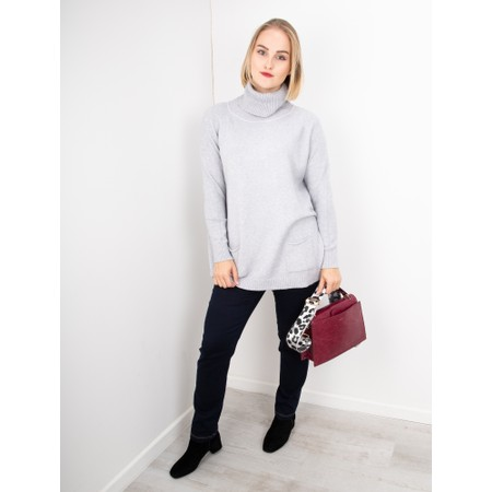 Amazing Woman  Anna Two Pocket Relaxed Fit Jumper - Grey