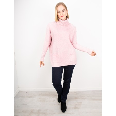Amazing Woman  Anna Two Pocket Relaxed Fit Jumper - Pink