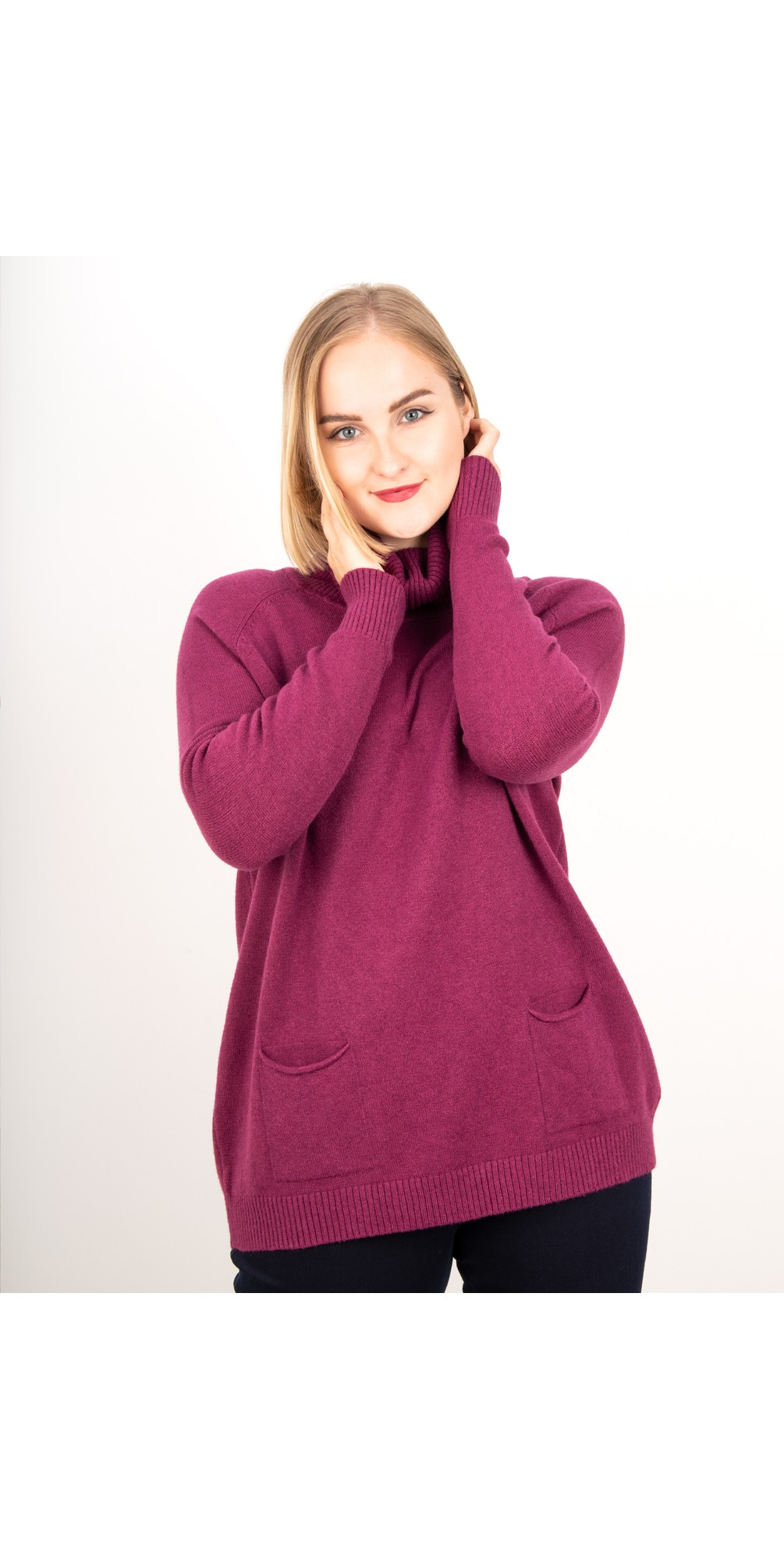 Anna Two Pocket Relaxed Fit Jumper main image
