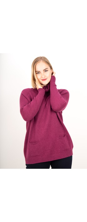 Amazing Woman  Anna Two Pocket Relaxed Fit Jumper Plum