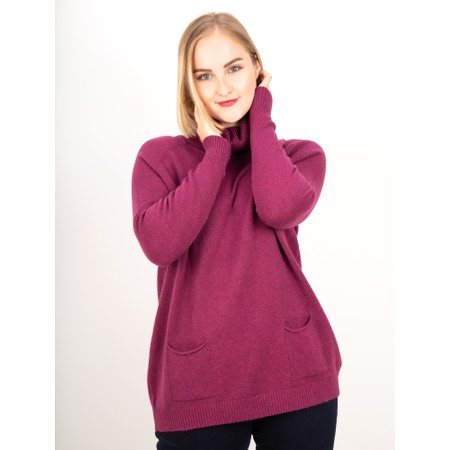 Amazing Woman  Anna Two Pocket Relaxed Fit Jumper - Purple