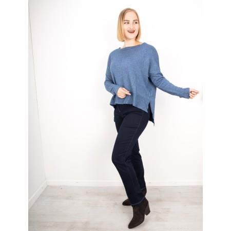 Amazing Woman  Judy SuperSoft Highlow Jumper - Blue