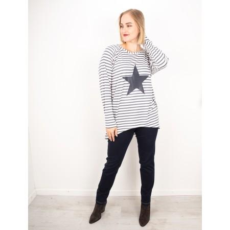 Chalk Robyn Stripe Star Top - Grey