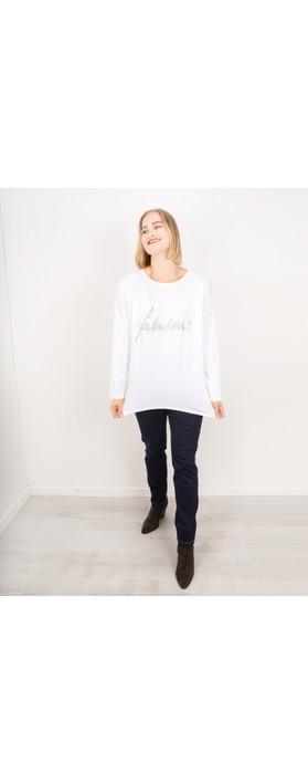 Chalk Robyn Fabulous Top White / Silver Glitter
