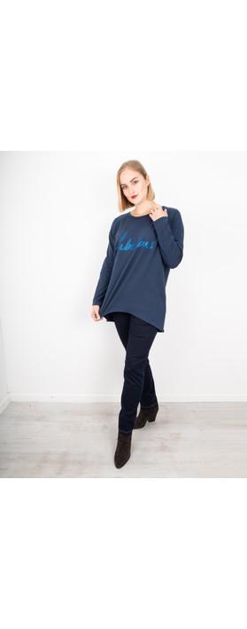 Chalk Robyn Fabulous Top Navy / Blue Glitter