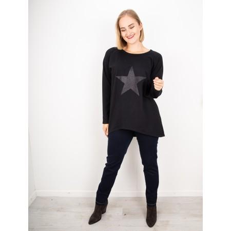 Chalk Gemini Exclusive ! Tasha Star Top - Black