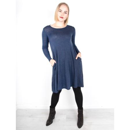 Foil Pheonix Rising Swing Dress - Grey