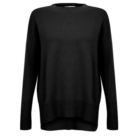 Van Kukil Cashmere Soft Cable Knit jumper - Black