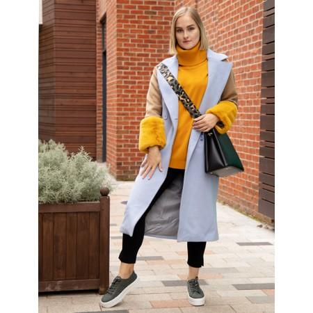 Meotine Karo Wool Coat - Blue
