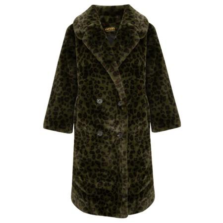 Jayley Faux Fur Long Coat - Green