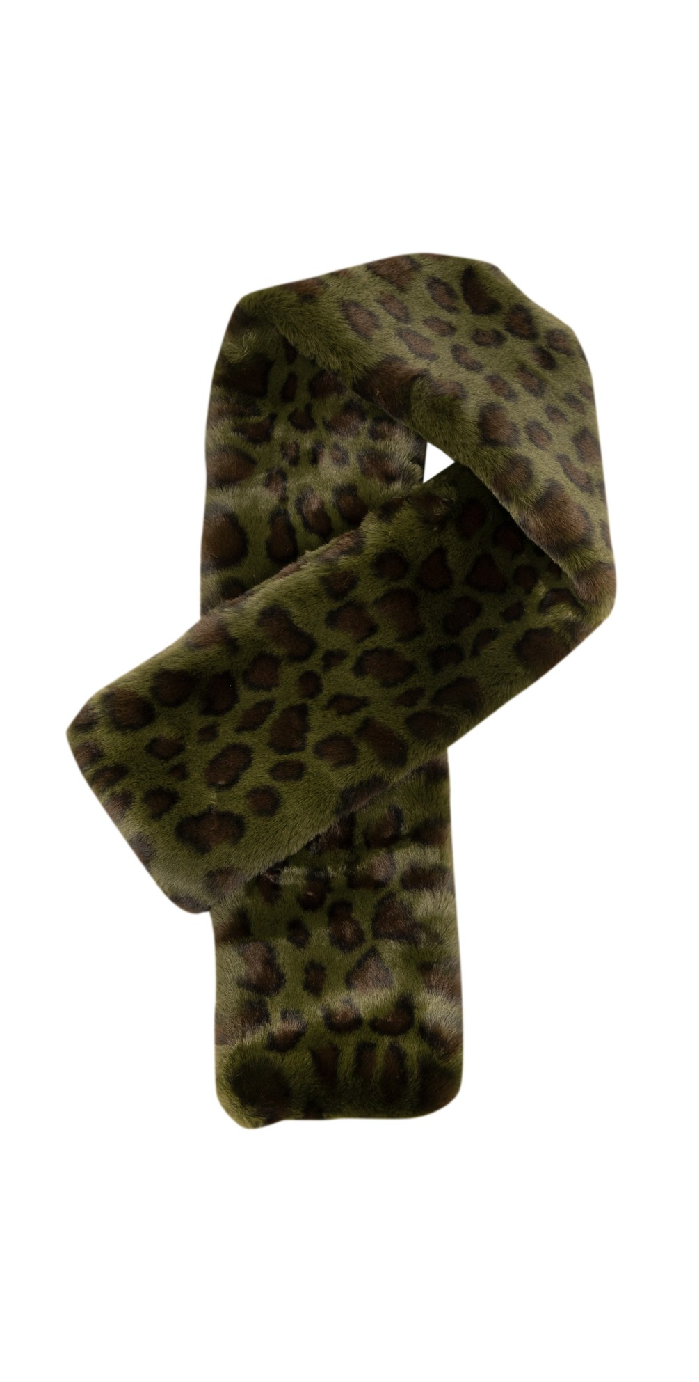 Animal Print Faux Fur Scarf main image