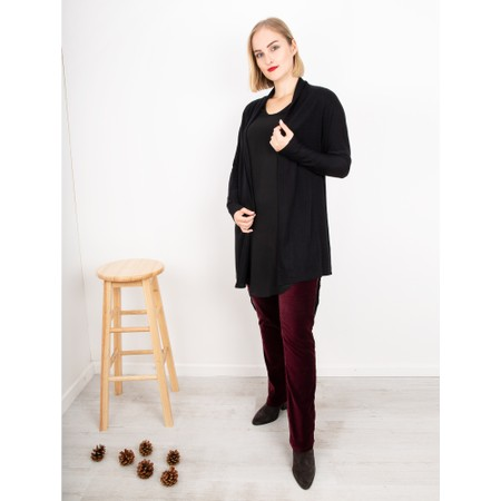 Foil I Love Ewe Too Merino Cardigan - Black