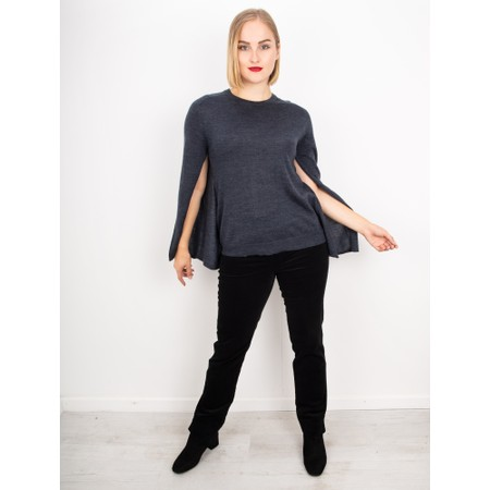 Foil Right To Bare Arms Merino Knit Top - Blue