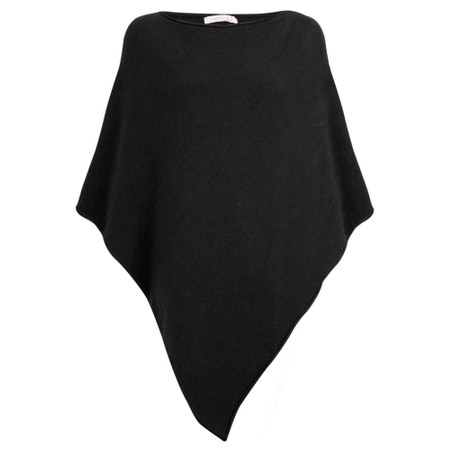 Amazing Woman  Poncho in Supersoft Knit  - Black
