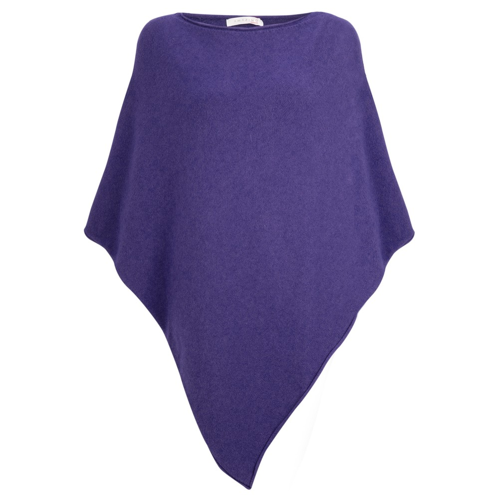 Amazing Woman Poncho in Supersoft Knit  Navy Bright Blu