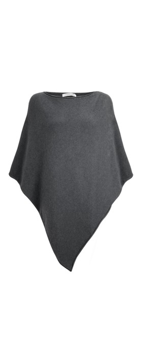 Amazing Woman  Poncho in Supersoft Knit  Charcoal