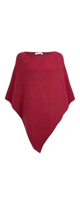 Amazing Woman  Poncho in Supersoft Knit  Claret