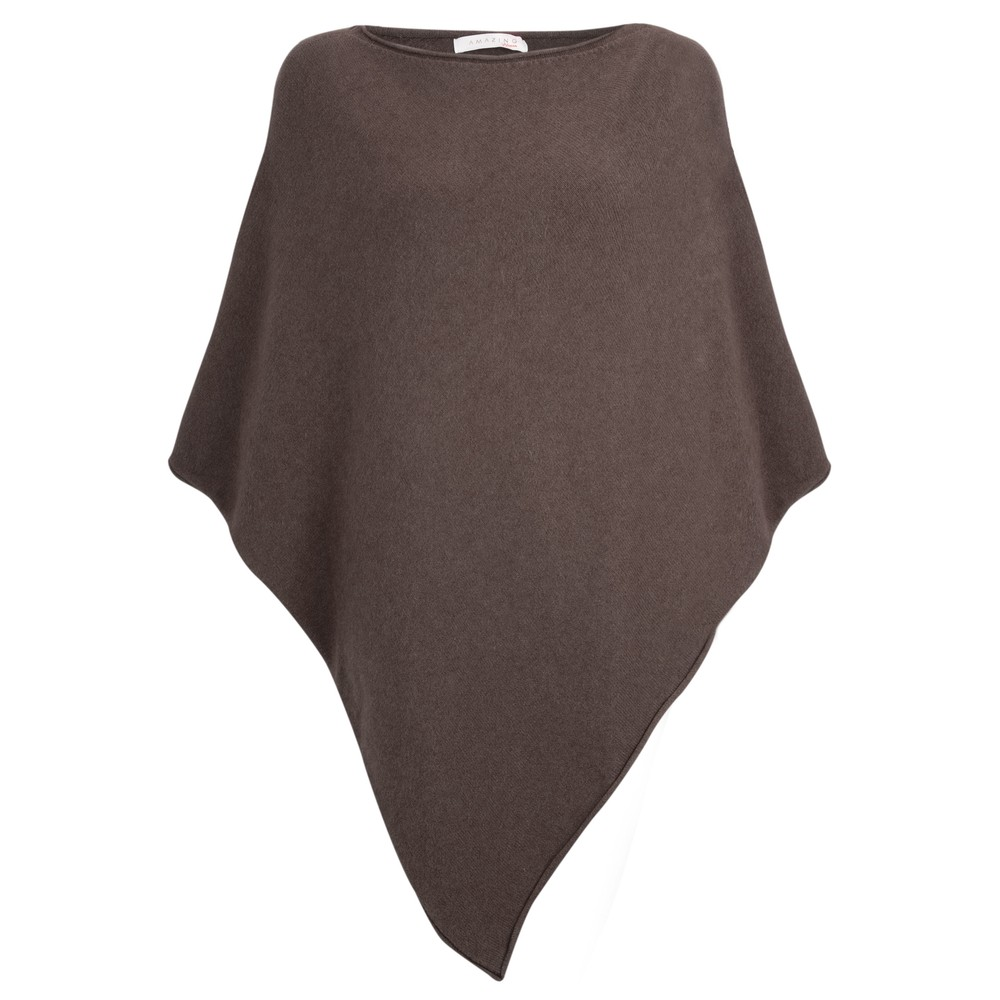 Amazing Woman Poncho in Supersoft Knit  Dark Chocolate