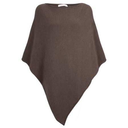 Amazing Woman  Poncho in Supersoft Knit  - Brown