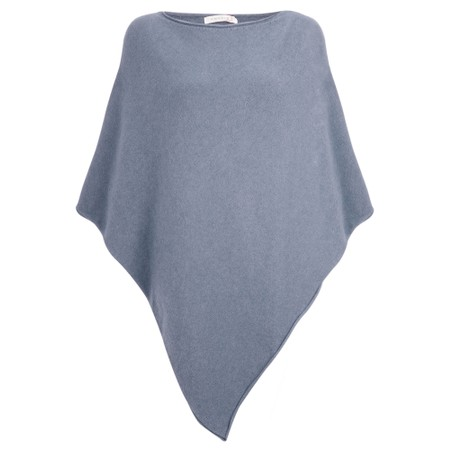 Amazing Woman  Poncho in Supersoft Knit  - Blue